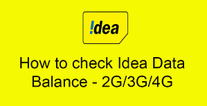Read more about the article How To Check IDEA Network Main & 4G Internet Data Balance